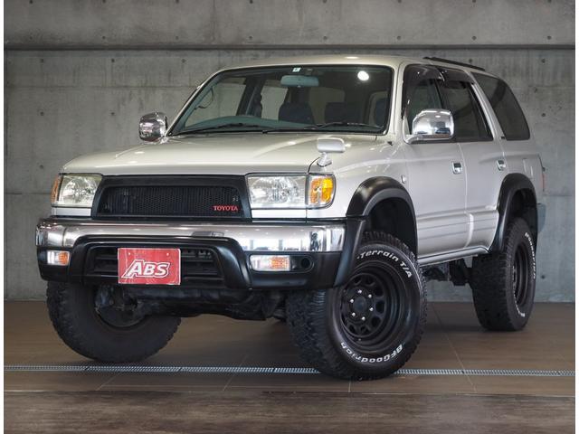 沖縄県の中古車ならハイラックスサーフ SSR-V リフトUP LEDテール 社外グリル 社外AW