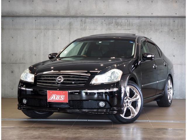 日産 350GTスポーツPKG 黒革 サンルーフ インパルマフラー