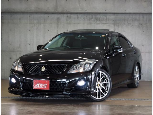 沖縄県の中古車ならクラウン 2.5アスリート エアロ 本革 サンルーフ 19AW 車高調
