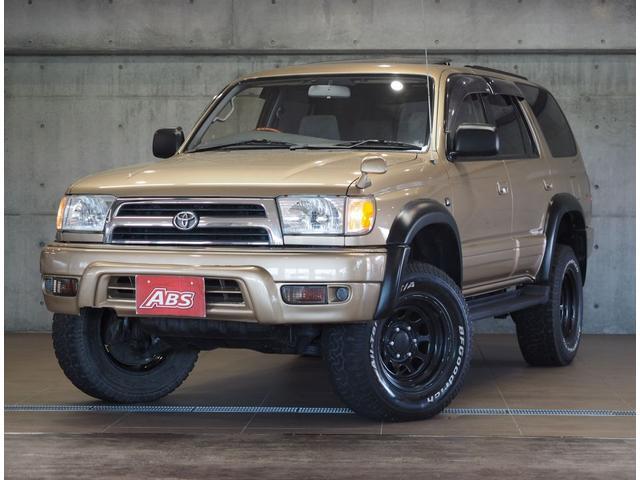 沖縄県の中古車ならハイラックスサーフ SSR-X 後期仕様 リフトUP LEDパール ウッドハン