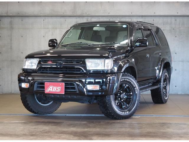 沖縄県の中古車ならハイラックスサーフ SSR-V ブラックナビゲーター 4WD 禁煙車 買取直販 純正16AW ETC ルーフレール BFグッドリッチホワイトレター DVD再生