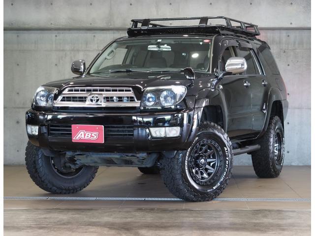 沖縄県の中古車ならハイラックスサーフ SSR-X20thアニバーサリーエディション ルーフラックカーゴ リフトUP FUEL17AW 4本出マフラー ブロックタイヤ LEDヘッドイカリング付