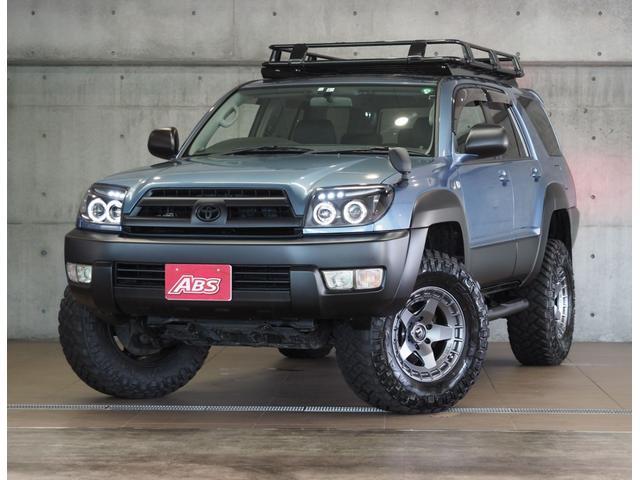 沖縄県の中古車ならハイラックスサーフ SSR-X 新品FUEL17ホイール 新品タイヤ オージールーフラックカーゴ サイドステップ 4連LEDヘッド 2インチリフトUP 黒シートカバー