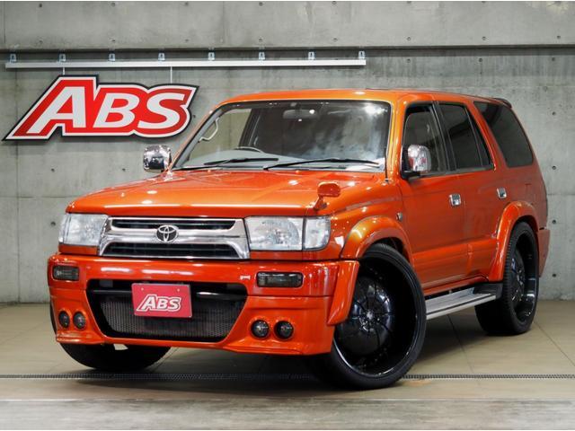 沖縄の中古車 トヨタ ハイラックスサーフ 車両価格 129万円 リ済別 1997(平成9)年 20.3万km オレンジM替