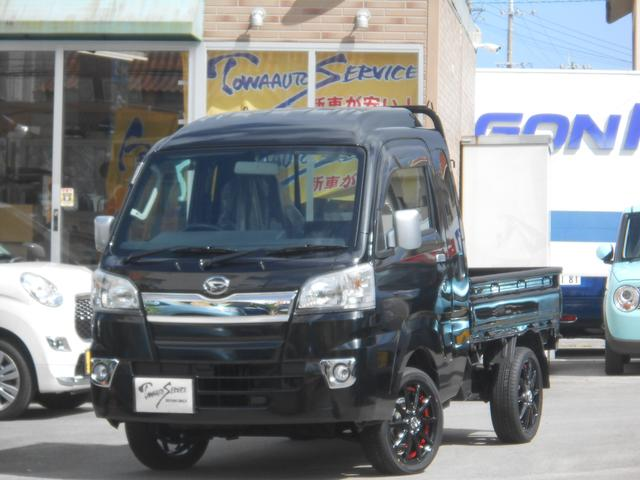 沖縄の中古車 ダイハツ ハイゼットトラック 車両価格 114.4万円 リ未 新車  ブラックマイカ