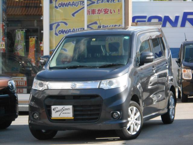 沖縄の中古車 スズキ ワゴンRスティングレー 車両価格 75万円 リ済込 平成25年 6.0万km ルナグレーパールメタリック