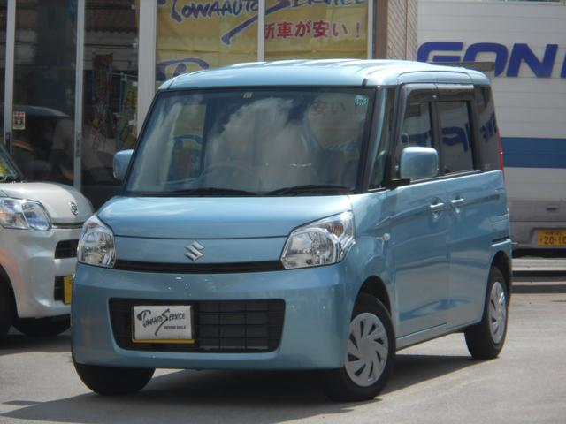 沖縄の中古車 スズキ スペーシア 車両価格 75万円 リ済込 平成25年 6.4万km フィズブルーパールメタリック