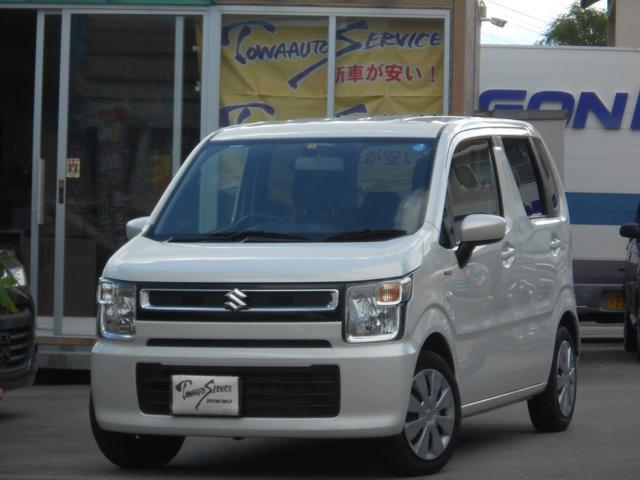 沖縄の中古車 スズキ ワゴンR 車両価格 95万円 リ済込 平成30年 0.9万km ピュアホワイトパール