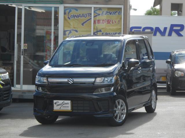 沖縄の中古車 スズキ ワゴンR 車両価格 115万円 リ済込 平成30年 0.7万km ブルーイッシュブラックパール
