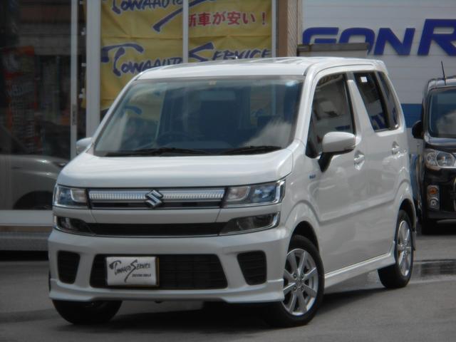 沖縄の中古車 スズキ ワゴンR 車両価格 115万円 リ済込 平成30年 1.3万km ピュアホワイトパール