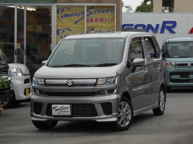 沖縄の中古車 スズキ ワゴンR 車両価格 115万円 リ済込 平成30年 0.5万km スチールシルバーメタリック