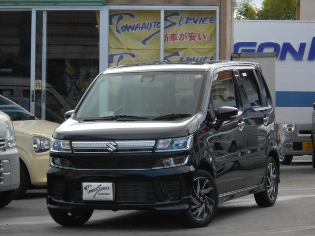 沖縄の中古車 スズキ ワゴンR 車両価格 125万円 リ済別 2019(平成31)年 0.6万km ブルーイッシュブラックパール