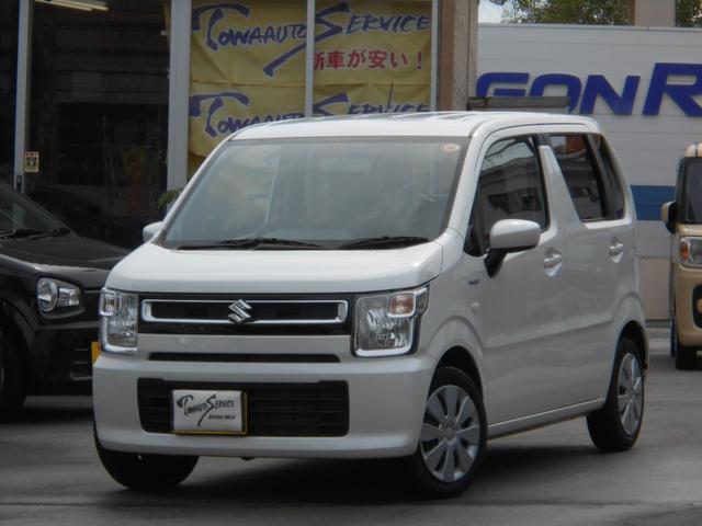 沖縄の中古車 スズキ ワゴンR 車両価格 128万円 リ未 2020(令和2)年 1.0万km ピュアホワイトパール