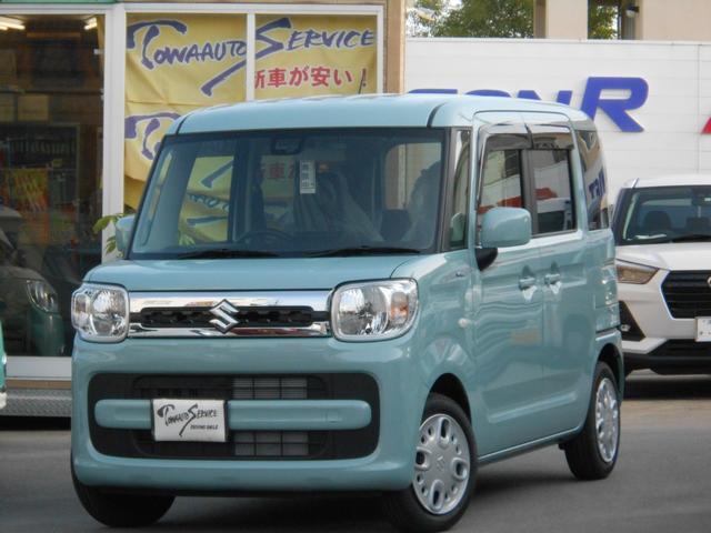 沖縄の中古車 スズキ スペーシア 車両価格 149.6万円 リ未 新車  オフブルーメタリック