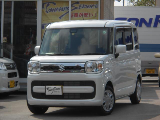 沖縄の中古車 スズキ スペーシア 車両価格 149.6万円 リ未 2021(令和3)年 51km ピュアホワイトパール