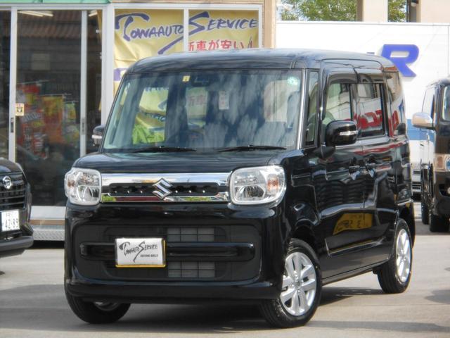 沖縄の中古車 スズキ スペーシア 車両価格 149.6万円 リ未 新車  ブルーイッシュブラックパール