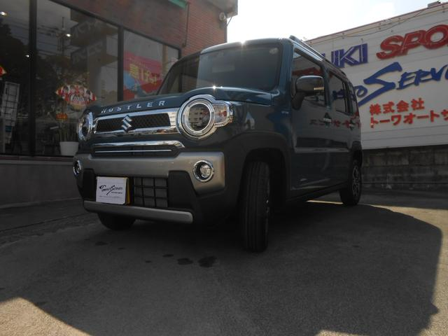 沖縄の中古車 スズキ ハスラー 車両価格 145万円 リ未 2021(令和3)年 7km デニムブルーガンメタ2トーン