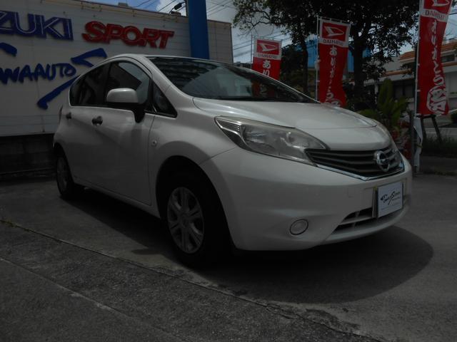 沖縄の中古車 日産 ノート 車両価格 45万円 リ済別 2013(平成25)年 7.8万km ホワイト