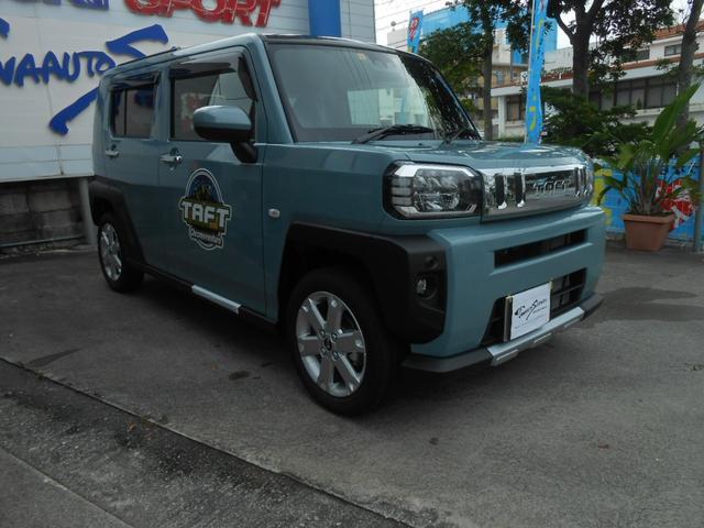 沖縄の中古車 ダイハツ タフト 車両価格 155万円 リ済別 2021(令和3)年 5km ライトブルーII