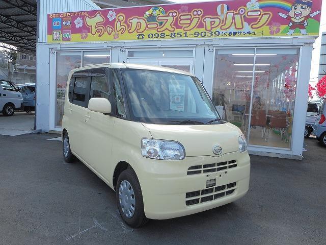 沖縄の中古車 ダイハツ タント 車両価格 42.8万円 リ済込 平成20年 9.9万km イエロー