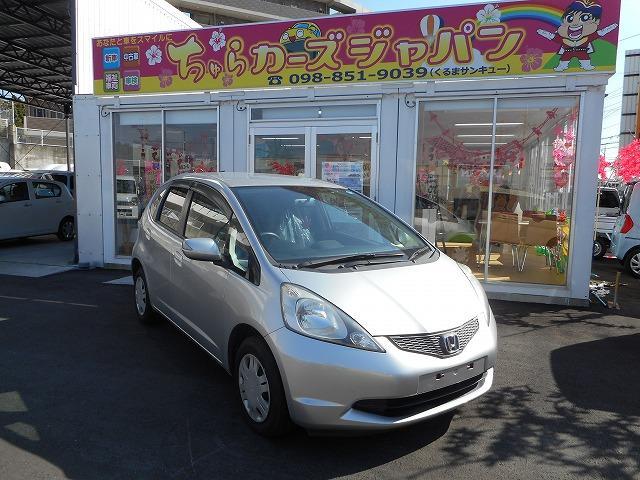 沖縄の中古車 ホンダ フィット 車両価格 44.8万円 リ済込 平成20年 5.4万km シルバー