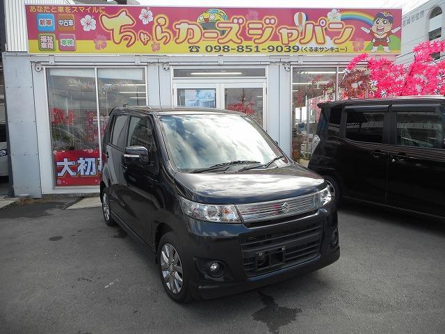 沖縄の中古車 スズキ ワゴンRスティングレー 車両価格 60.8万円 リ済込 2011(平成23)年 5.3万km ブラック