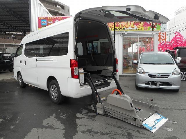豊見城市 ちゅらカーズジャパン 日産 NV350キャラバンバン 福祉車両 リフト式 2基積 ホワイト 3.7万km 2012(平成24)年