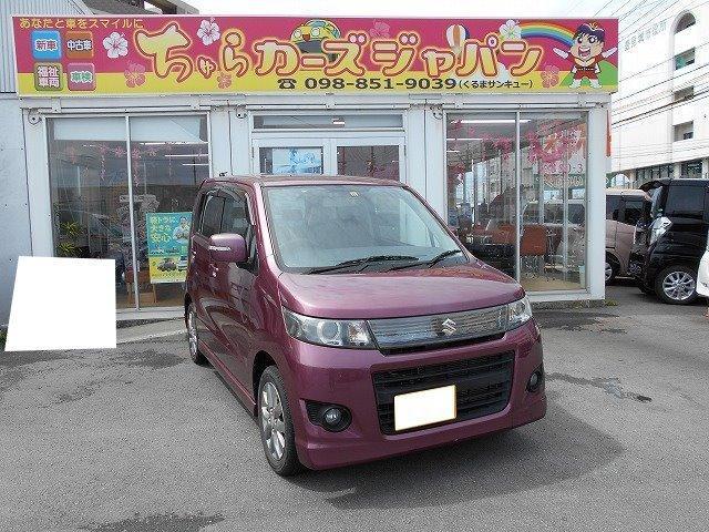 沖縄の中古車 スズキ ワゴンRスティングレー 車両価格 59.8万円 リ済込 2011(平成23)年 4.3万km バイオレット