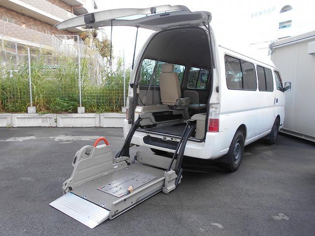 日産 福祉車両 2基 リフト式(車イス2台含めて10名乗り)