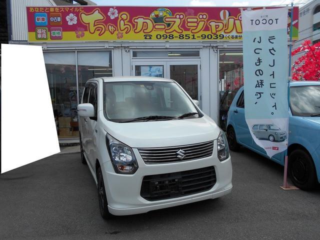 沖縄の中古車 スズキ ワゴンR 車両価格 82.8万円 リ済込 2013(平成25)年 4.9万km パールホワイト