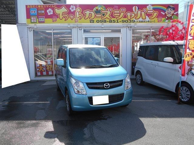 沖縄の中古車 マツダ AZワゴン 車両価格 52.8万円 リ済込 平成24年 3.5万km アクアベールブルーパールメタリック