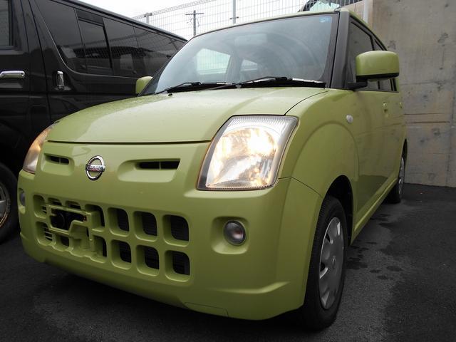 沖縄の中古車 日産 ピノ 車両価格 27.8万円 リ済込 平成19年 6.4万km ライムグリーン