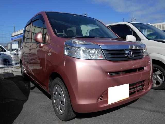 沖縄の中古車 ホンダ ライフ 車両価格 57.8万円 リ済込 2011(平成23)年 4.2万km ピンク