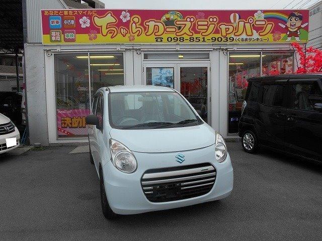 沖縄の中古車 スズキ アルトエコ 車両価格 42.8万円 リ済込 平成25年 6.2万km ホワイト