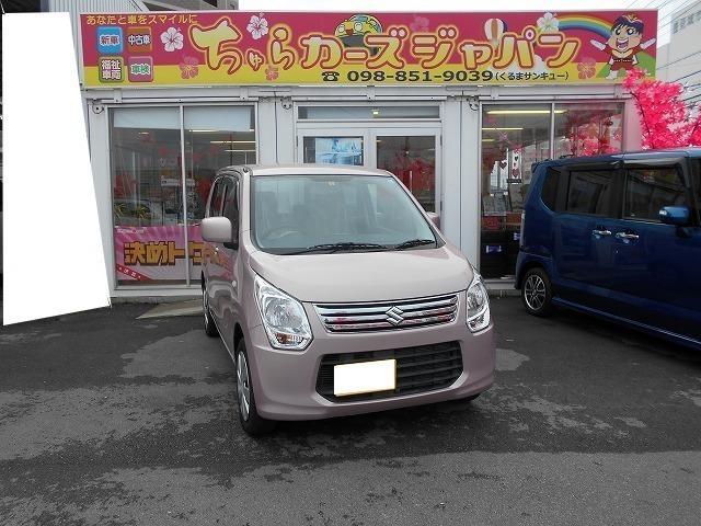 沖縄の中古車 スズキ ワゴンR 車両価格 62.8万円 リ済込 2013(平成25)年 4.4万km ピンク