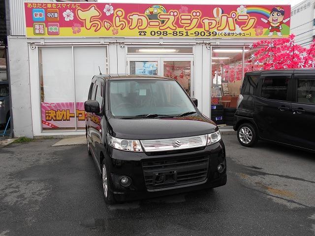 沖縄の中古車 スズキ ワゴンRスティングレー 車両価格 47.8万円 リ済込 平成24年 8.4万km パープル