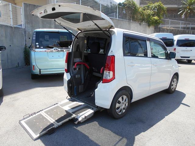 豊見城市 ちゅらカーズジャパン スズキ ワゴンR 福祉車両 1基積 スロープ式 ホワイト 3.1万km 2013(平成25)年