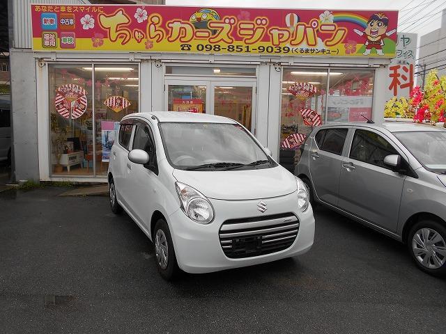 沖縄の中古車 スズキ アルトエコ 車両価格 52.8万円 リ済込 2014(平成26)年 4.4万km ホワイト