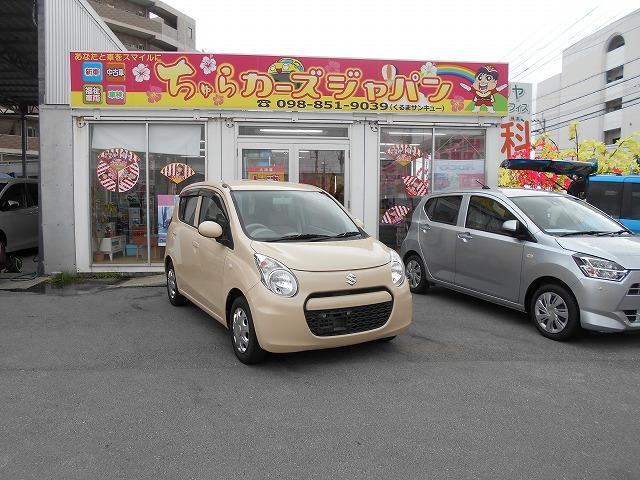 沖縄の中古車 スズキ アルトエコ 車両価格 29.8万円 リ済込 2012(平成24)年 9.7万km ベージュ