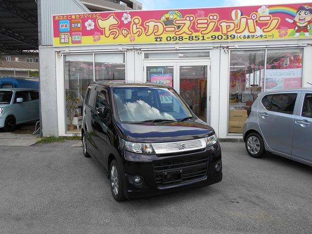 沖縄の中古車 スズキ ワゴンRスティングレー 車両価格 52.8万円 リ済込 2011(平成23)年 6.8万km パープル