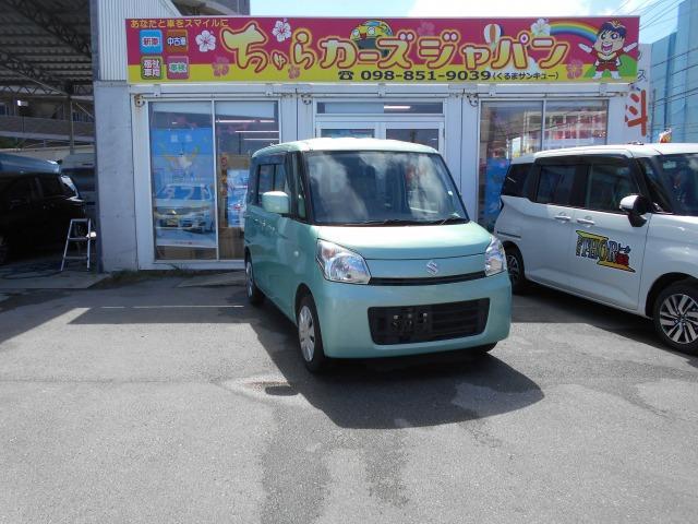 沖縄の中古車 スズキ スペーシア 車両価格 62.8万円 リ済込 2014(平成26)年 8.8万km グリーン