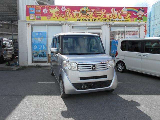 沖縄の中古車 ホンダ N-BOX 車両価格 59.8万円 リ済込 2013(平成25)年 9.3万km シルバー