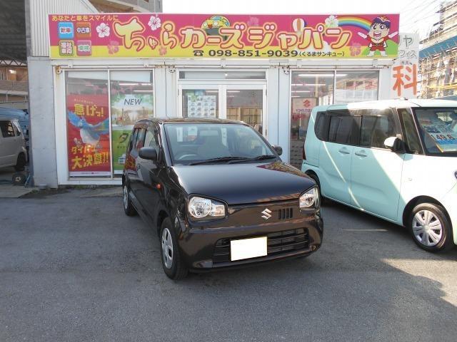 沖縄の中古車 スズキ アルト 車両価格 55.8万円 リ済込 2017(平成29)年 2.3万km ブラウン