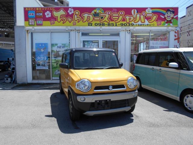 沖縄の中古車 スズキ ハスラー 車両価格 58.8万円 リ済込 2016(平成28)年 11.1万km 黄色・黒