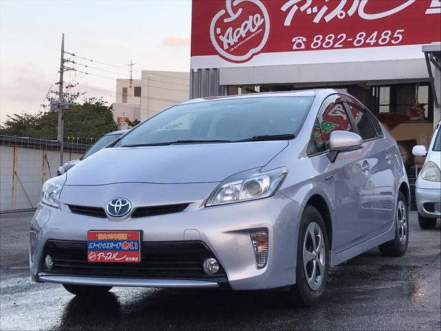 沖縄の中古車 トヨタ プリウス 車両価格 120万円 リ済込 2013(平成25)年 5.4万km ライトパープルM