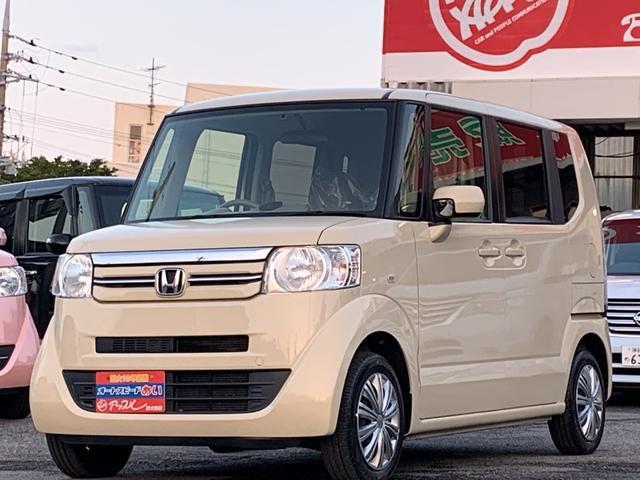 沖縄の中古車 ホンダ N-BOX 車両価格 85万円 リ済込 2015(平成27)年 6.2万km クリームホワイト