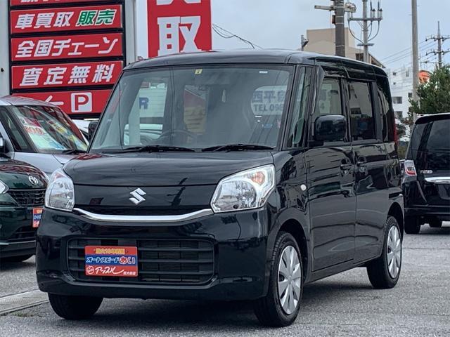 沖縄の中古車 スズキ スペーシア 車両価格 89万円 リ済込 2016(平成28)年 3.9万km ブラック