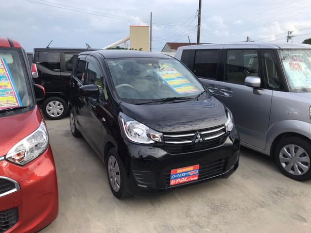 沖縄の中古車 三菱 eKワゴン 車両価格 83万円 リ済込 2018(平成30)年 3.4万km ブラック