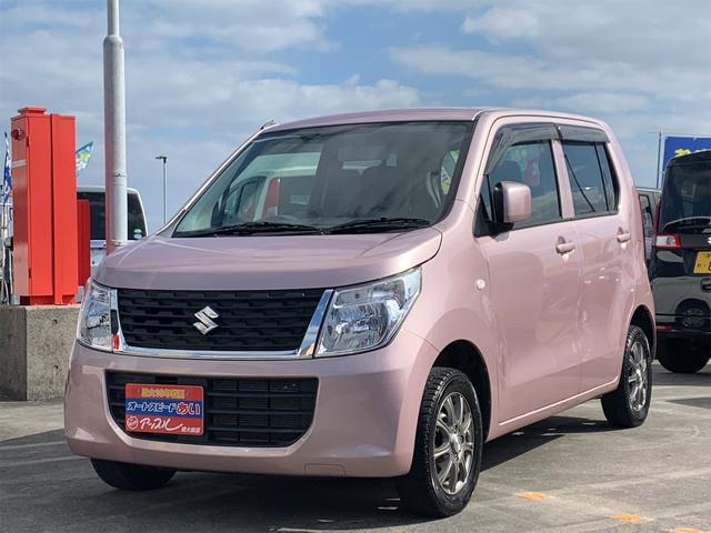 沖縄の中古車 スズキ ワゴンR 車両価格 63万円 リ済込 2016(平成28)年 6.6万km ピンク