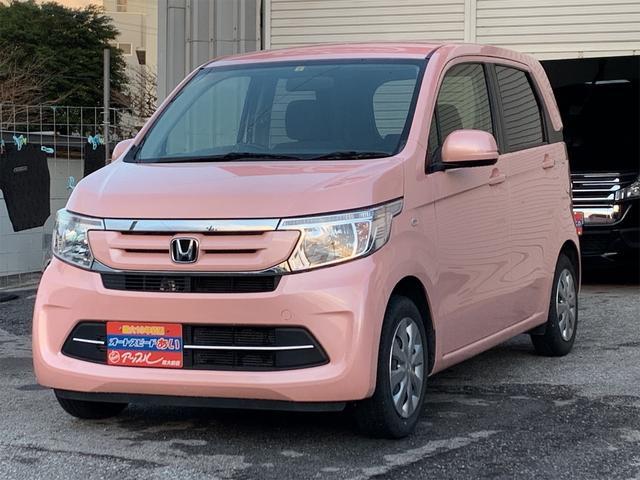 沖縄の中古車 ホンダ N-WGN 車両価格 98万円 リ済込 2018(平成30)年 2.3万km ピンク